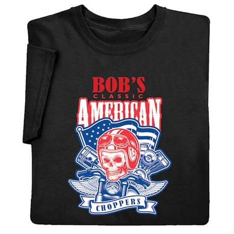 "Personalized ""Your Name"" Classic American Choppers Tee"
