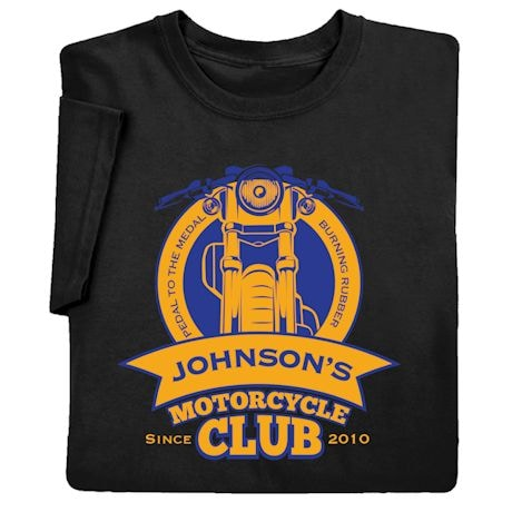 "Personalized ""Your Name"" Motorcycle Club Tee"