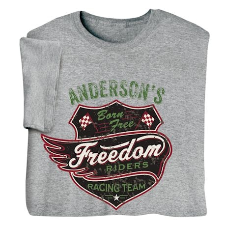 """Personalized """"Your Name"""" Freedom Riders Tee"""