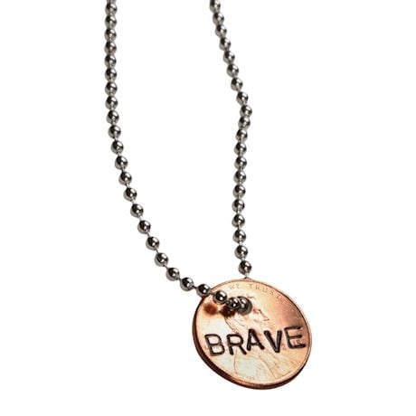 Personalized Hand-Stamped Penny Necklace