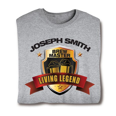 "Personalized ""Your Name"" Living Legend Series - Brew Master Tee"