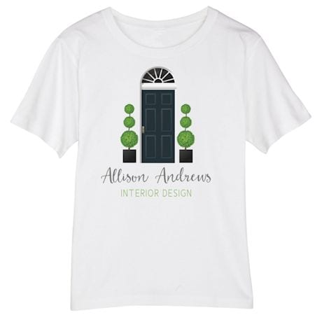 Personalized Your Name Welcome Home Interior Design Tee at What on ...