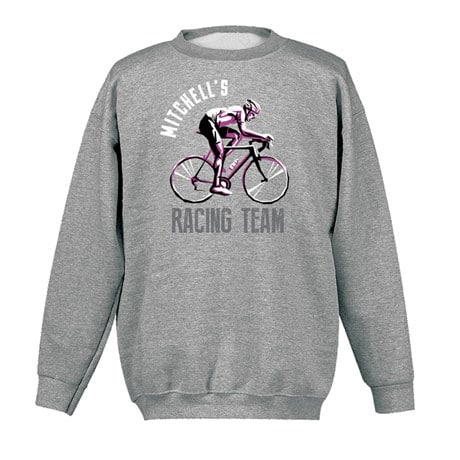 """Personalized """"Your Name"""" Bicycle Racing Team Tee"""