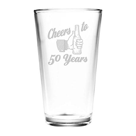 "Personalized ""Cheers"" Birthday Pint Glass"