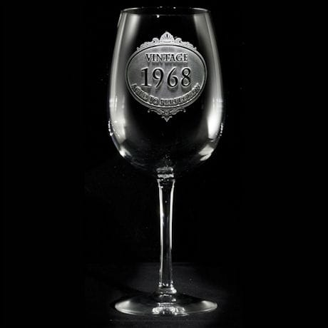 Personalized 'Aged to Perfection' Wine Glass