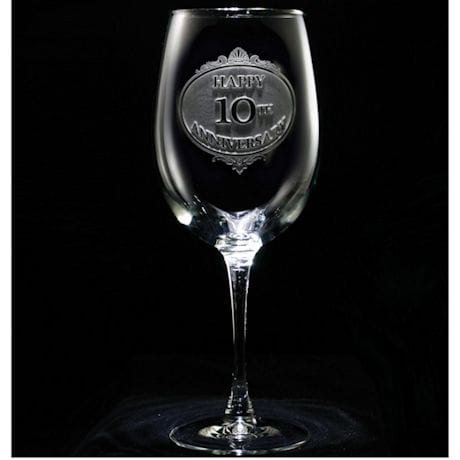 Personalized Anniversary Wine Glass