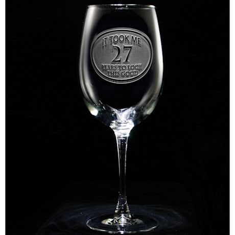 Personalized 'It Took Me Years' Wine Glass