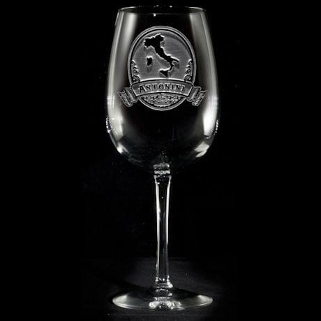 Personalized Italian Pride Wine Glass