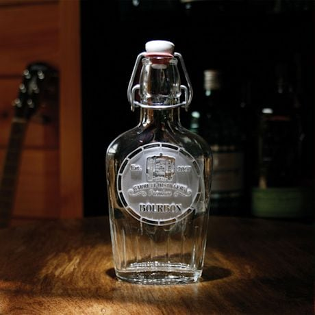 Personalized Bourbon Label Flask