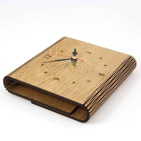 Personalized Living Hinge Wooden Clock