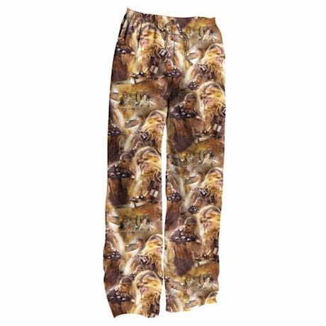 Star Wars Chewbacca Chewy All Over Faces Men's Polyester Sleep & Lounge Pants