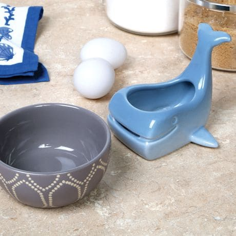 Stoneware Whale Shaped Ceramic Egg Separator