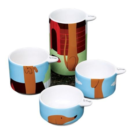 Stackable Dachshund Measuring Cups