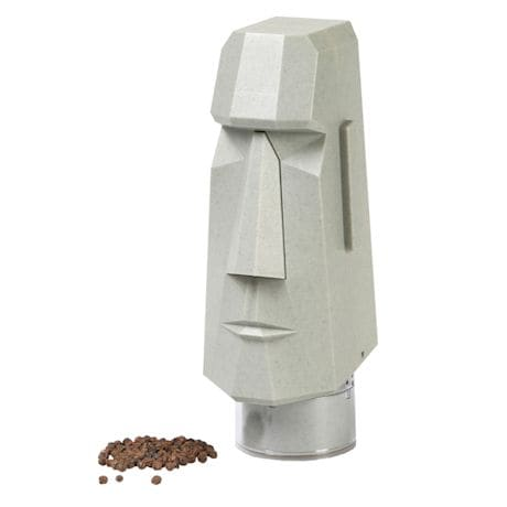 Moai Easter Island Statue Automatic Battery Powered Pepper & Spice Grinder