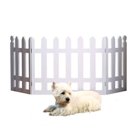 White Picket Fence Folding Pet Gate - 19' High X 42' Long