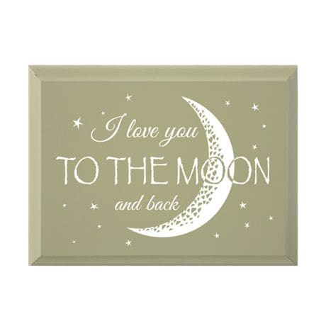 """""""I Love You To The Moon And Back"""" Wood Plaque"""