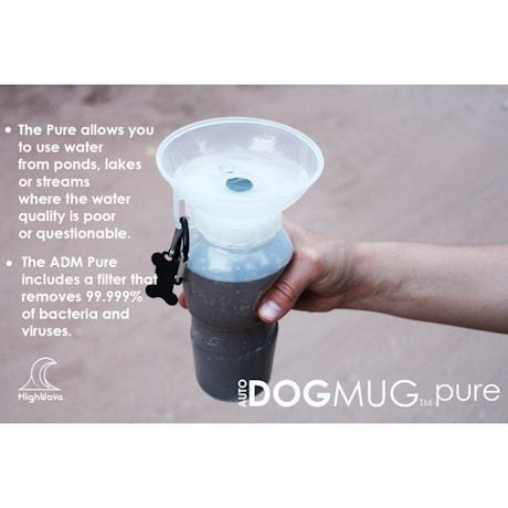 HighWave AutoDogMug Pure - Portable Water Bottle for Dogs