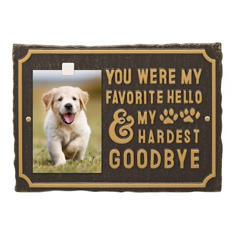 Whitehall My Hardest Goodbye Pet Memorial Photo Wall Sign - Keepsake Remembrance Plaque