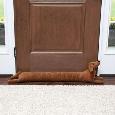 "Dachshund Dog Draft Dodger - Animal Shaped Weighted Door and Window Breeze Guard - 41.5"" Long"