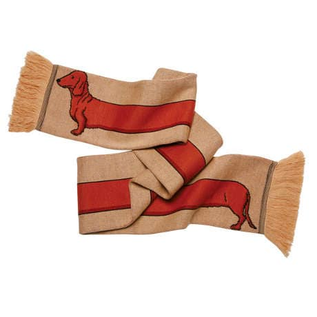 Dachshund Knitted Scarf