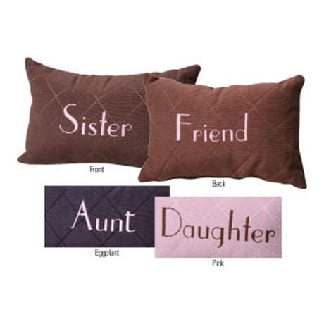 REVERSIBLE FRIEND ACCENT PILLOWS