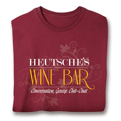 """Personalized """"Your Name"""" Wine Bar Shirt"""