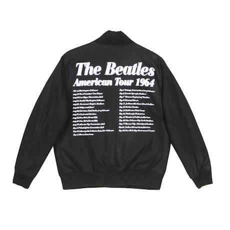 The Beatles Varsity Snap Front Jacket with Tour Dates