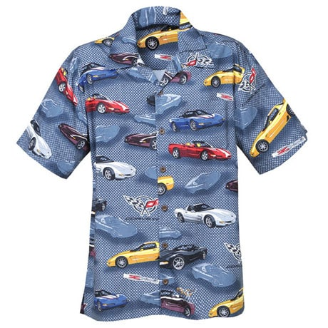 Corvette Hawaiian Camp Shirt