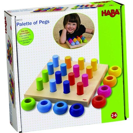 Haba Palette of Pegs Stacking Toy Activity Set