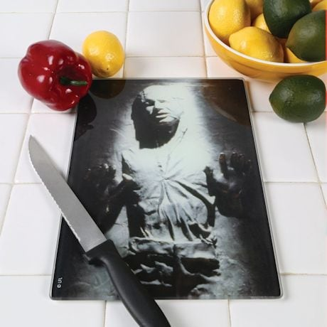 Star Wars Han Solo Frozen In Carbonite Glass Tempered Cutting Board