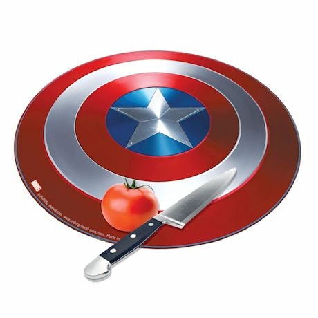 Marvel Avengers Captain America Civil War Shield Round Tempered Glass Cutting Board