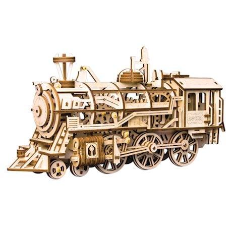 Build-Your-Own Mechanical Locomotive Puzzle Kit
