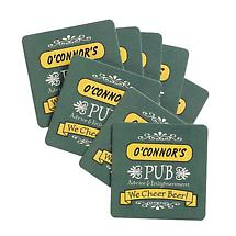 PERSONALIZED SET OF 8 BEER MATS