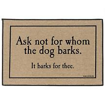 FOR WHOM DOG BARKS DOORMAT