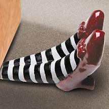 WICKED WITCH OF THE EAST LEGS DOOR STOP
