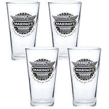 PERSONALIZED BIKER BAR PINT GLASSES (SET OF 4)