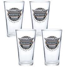 Personalized Biker Bar Pint Glasses (Set Of 4)
