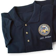 PERSONALIZED ARMY POLO SHIRT