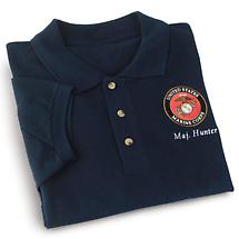 PERSONALIZED MARINES POLO SHIRT