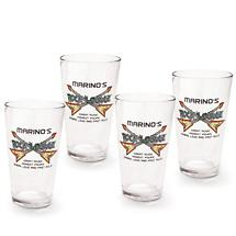 Personalized Rock Lounge Pint Glasses Set Of 4