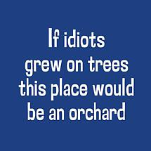IF IDIOTS GREW ON TREES THIS PLACE WOULD BE AN ORCHARD SHIRT