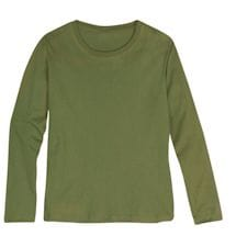 Olive Ladies Long Sleeve T-Shirt