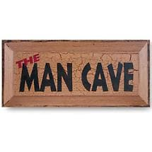 NON-PERSONALIZED MAN CAVE SIGN