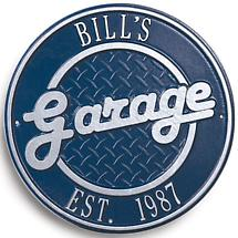 BILL'S GARAGE PLAQUE