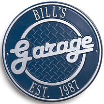 Bill's Garage Plaque