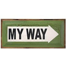 MY WAY STREET SIGN