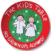 THE KID'S TABLE PLATE