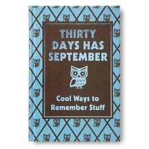THIRTY DAYS HAS SEPTEMBER BOOK