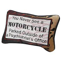 MOTORCYCLE THERAPIST PILLOW