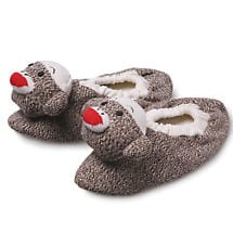 ADULT SOCK MONKEY SLIPPERS